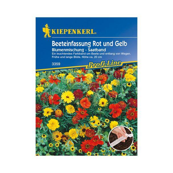 Beeteinfassung Rot und Gelb Blumenmischung (Saatband)
