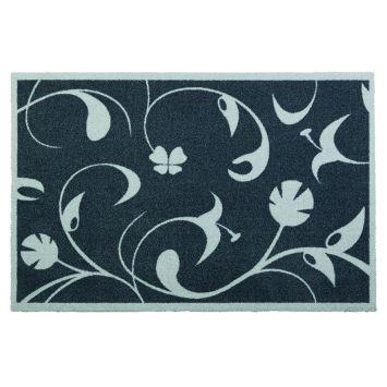 Fußmatte 'Jardin des plantes' Blumengarten-Design, grau