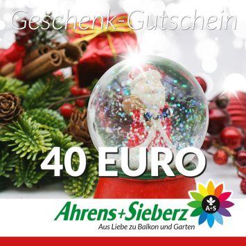 Geschenk-Gutschein, Wert 40 Euro Weihnachtskugel