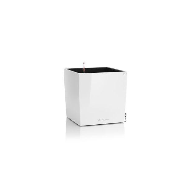 LECHUZA® CUBE 30 (16460) All-in-One Set, weiß, hochglanz
