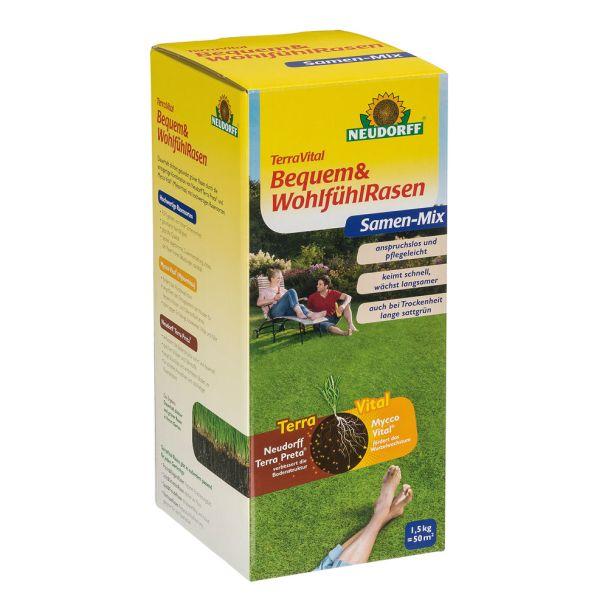 TerraVital® 'Bequem&WohlfühlRasen' Samen-Mix 1,5 kg (1 kg / € 15,33)