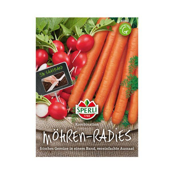 Möhren-Radies-Kombination (Saatband)