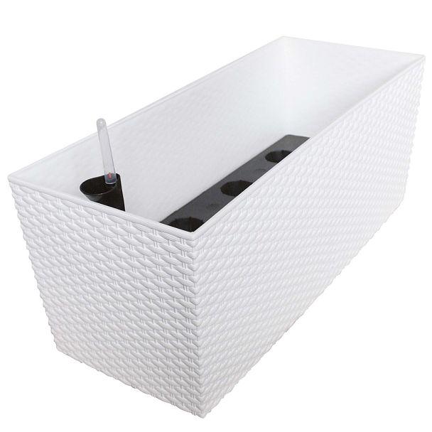 'Rato Case' Blumenkasten, weiß, 80 cm