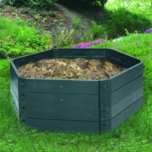 KHW-Komposter Set GV + Aufbau Grundvariante 550 L+2 x Aufbau 250