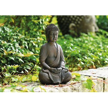 Buddha sitzend in braun Höhe 25 cm