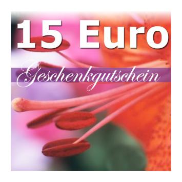 Geschenk-Gutschein, Wert 15 Euro