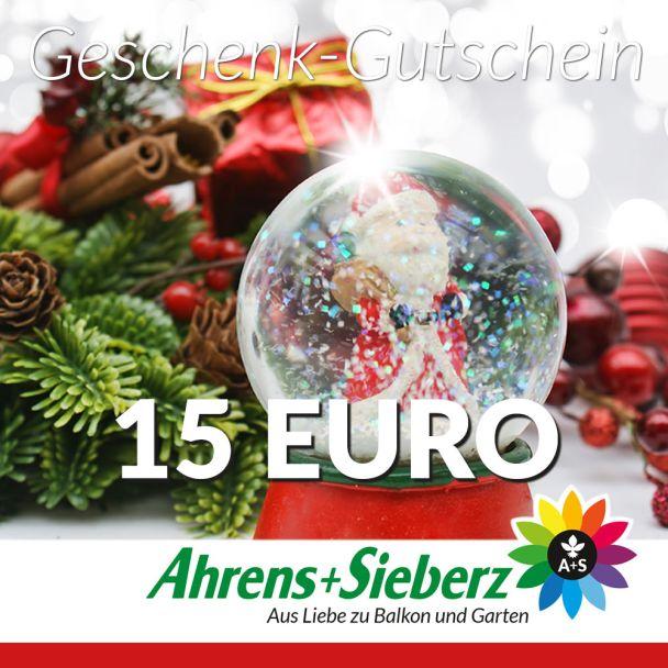 Geschenk-Gutschein, Wert 15 Euro Weihnachtskugel