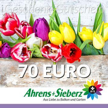 Geschenk-Gutschein, Wert 70 Euro Tulpen