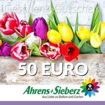 Geschenk-Gutschein, Wert 50 Euro Tulpen
