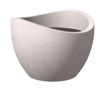 'wave globe®' Taupe-Granit 30 cm Pflanzgefäß