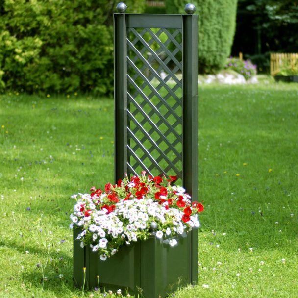 Pflanzkasten mit Spalier, 43 cm in Grün