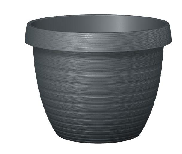 'Country Star®' Metallic Grey 25 cm Pflanzgefäß