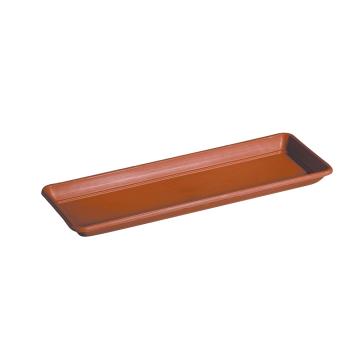 Untersetzer für Blumenkasten Cassetta Day R, 60cm, Terracotta