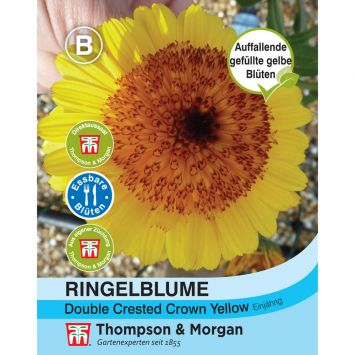 Ringelblume Double Crested Crown Yellow
