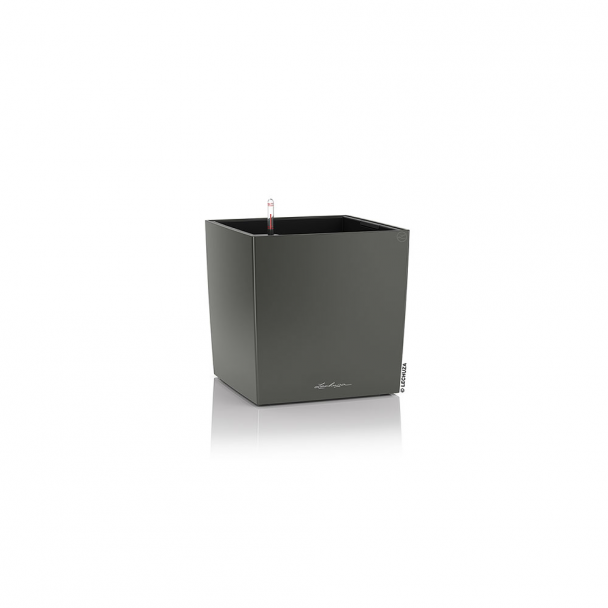 LECHUZA® CUBE 30 (16463) All-in-One Set, anthrazit metallic