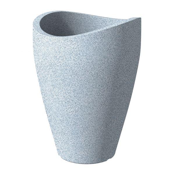 'wave globe® high' Weiß-Granit Ø 40 cm