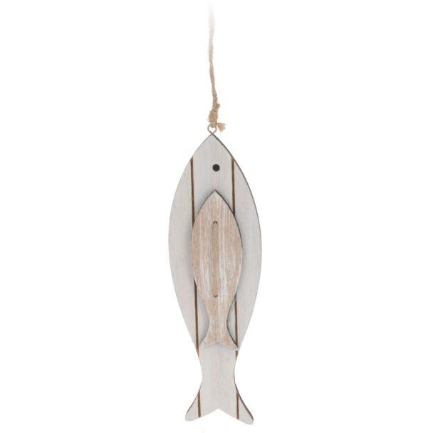 Deko Hänge-Fisch 'klein', weiß