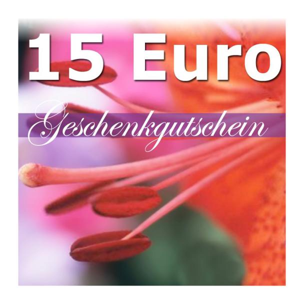 Geschenk-Gutschein, Wert 15 Euro Flower Power