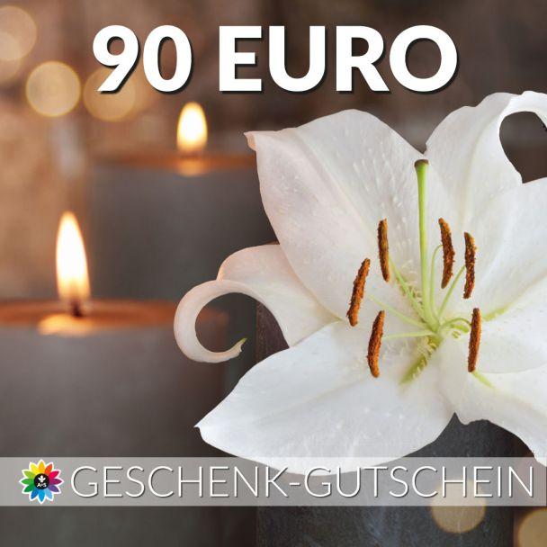 Geschenk-Gutschein, Wert 90 Euro Kerze