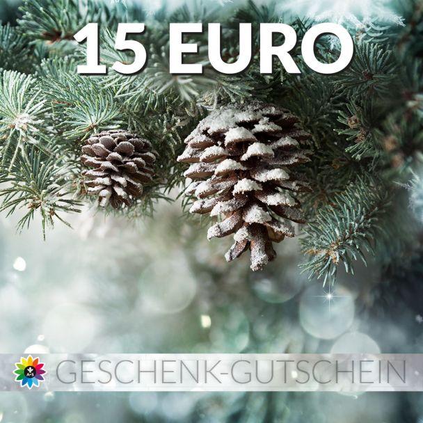 Geschenk-Gutschein, Wert 15 Euro Tanne