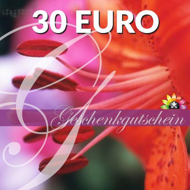 Geschenk-Gutschein, Wert 30 Euro 'RosaLilli'