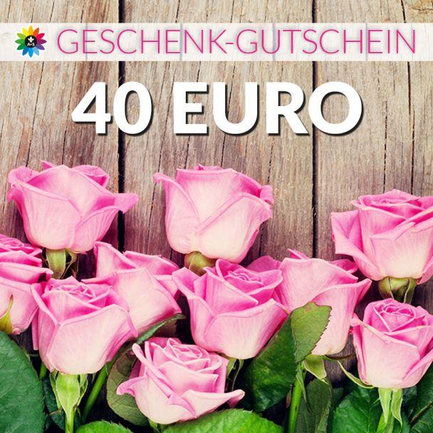 Geschenk-Gutschein, Wert 40 Euro Rosen
