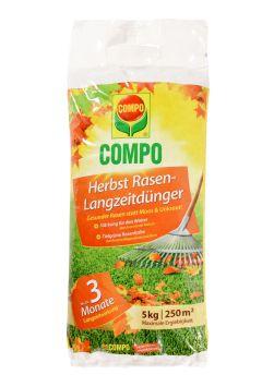 COMPO Herbst Rasen-Langzeitdünger 5 kg für 250qm (1 kg = € 4,00)