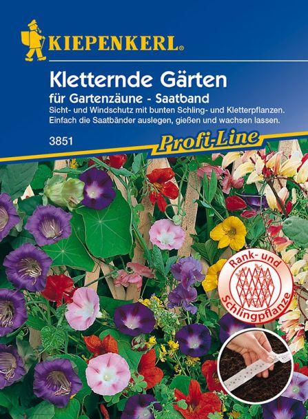 Kletternde Gärten für Gartenzäune (Saatband)