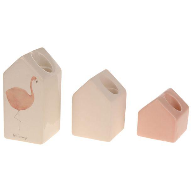Kerzenhalter 'Haus', 3er-Set