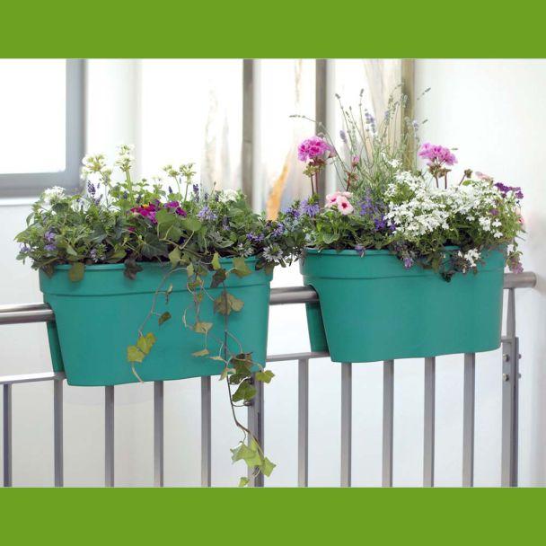 Flowerclip XL, 2er Set, türkis