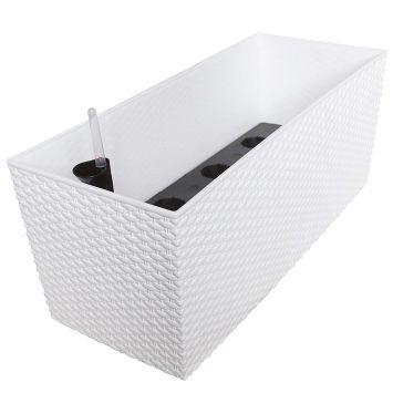 'Rato Case' Blumenkasten, weiß, 60 cm