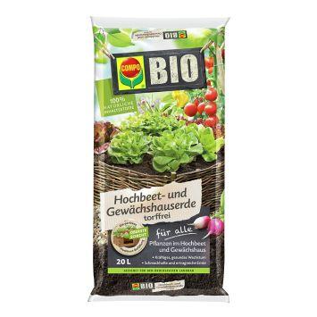 COMPO BIO Hochbeet- und Gewächshauserde torffrei 20 Liter (1 l = € 0,40)