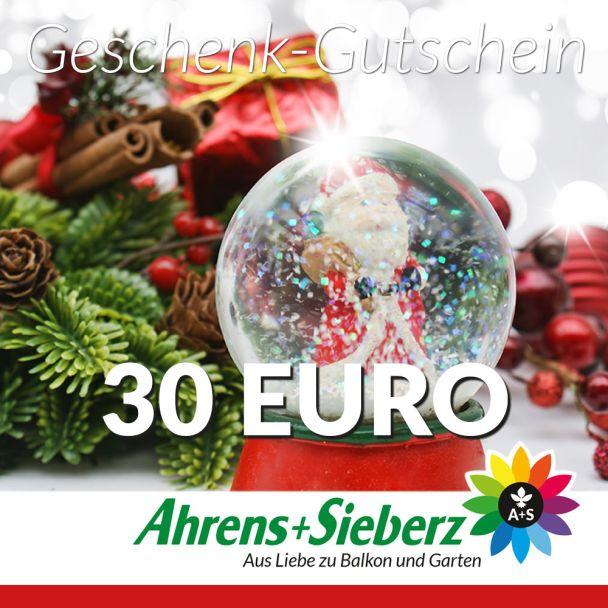 Geschenk-Gutschein, Wert 30 Euro Weihnachtskugel