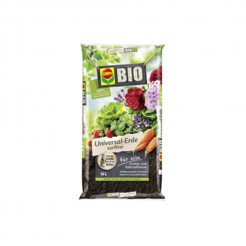 COMPO Bio Universal-Erde torffrei - 15 l Beutel, (1 l / € 0,53)
