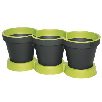'E&K' 3er Kräutertopf, mintgrün