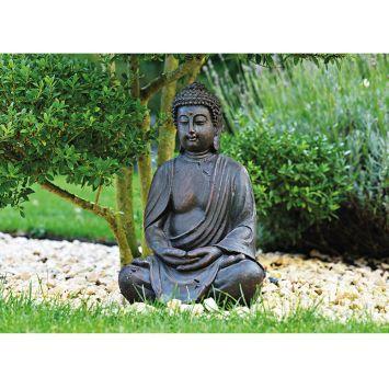 Buddha sitzend in braun Höhe 50 cm