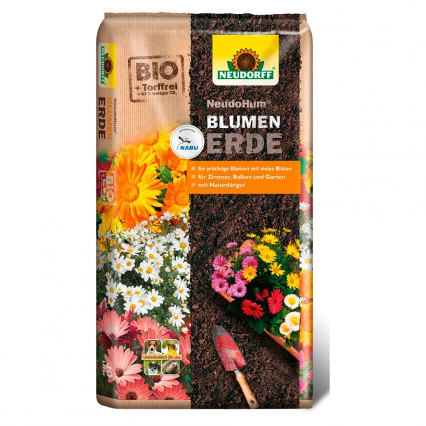 NeudoHum® Blumenerde 10 Liter (1 l / € 0,46)