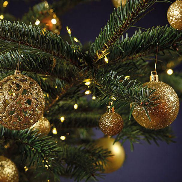 Weihnachtskugelset Gold 100-teilig