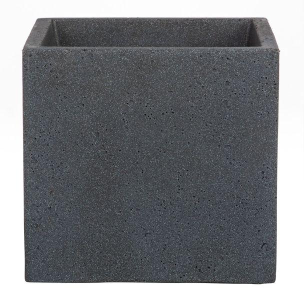 'C-Cube®' Stony Black 30 x 30 cm Pflanzgefäß