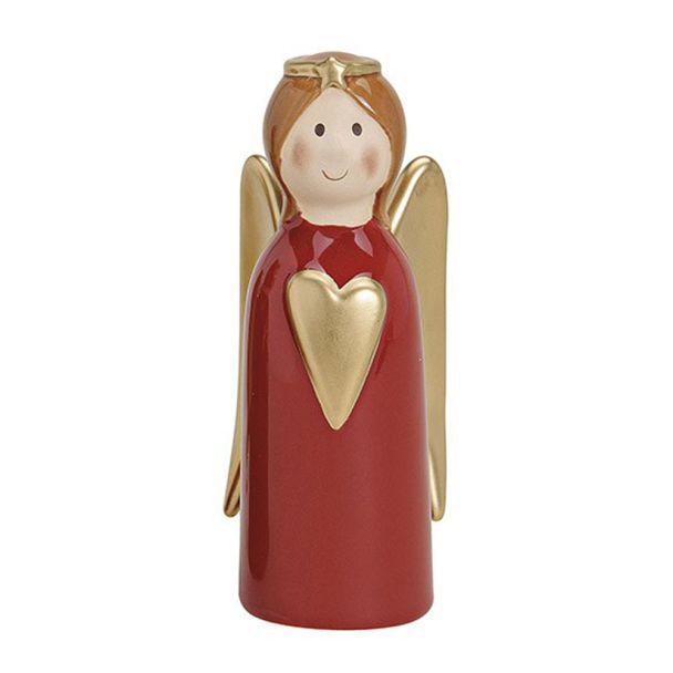 Engel mit Herz, 16 cm