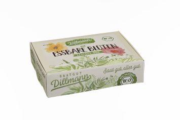Essbare Blüten Saatgut--Box S Bio, Karton