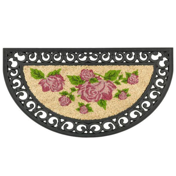 ASTRA Fußmatte Coco Relief 'Rose', 45 x 75 cm