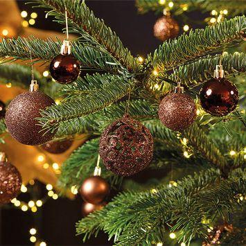 Weihnachtskugelset Braun 100 Stk.