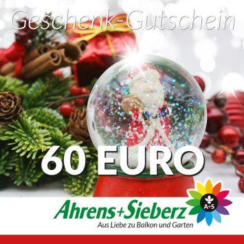Geschenk-Gutschein, Wert 60 Euro Weihnachtskugel