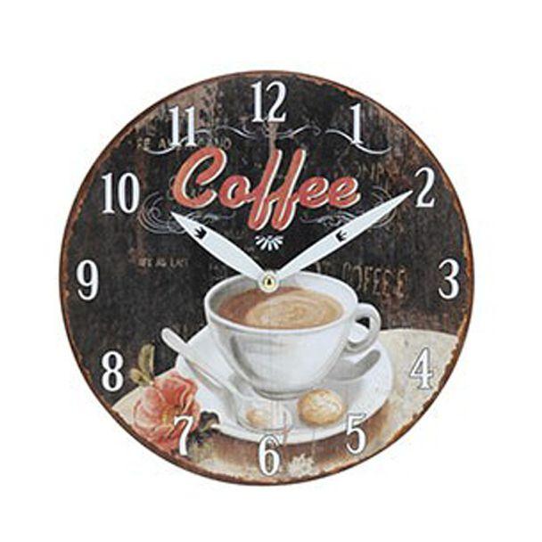 Wanduhr Kaffeedesign 'Coffee', 23,5 cm