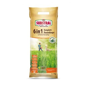 SUBSTRAL® - NATUREN 6 in 1 Komplett-Rasendünger, 10 kg  (1 kg = € 2,80)