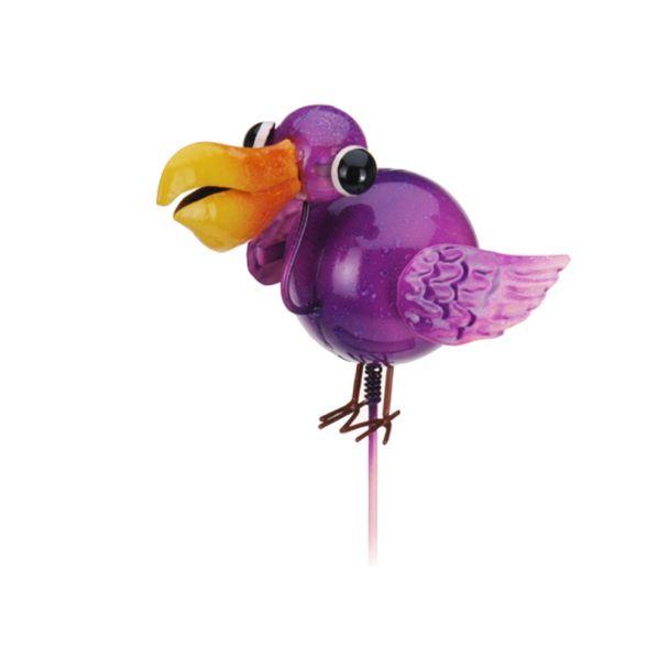 Gartenstecker 'Vogel', pink
