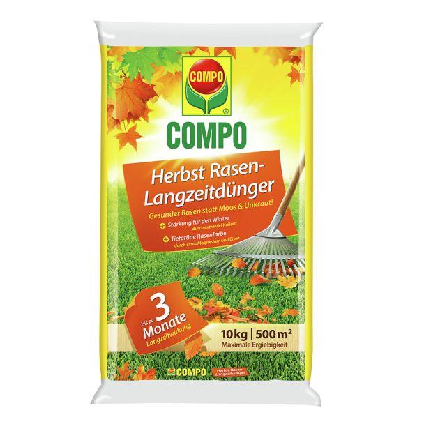 COMPO Herbst Rasen-Langzeitdünger 10 kg für 500qm (1 kg = € 3,00)