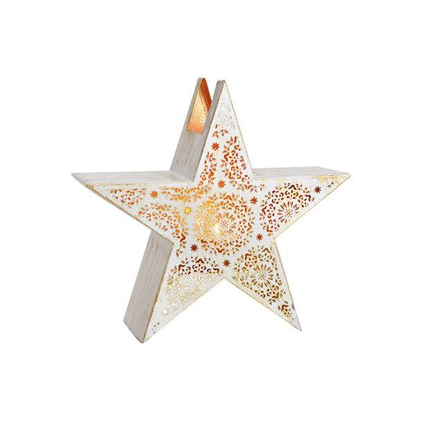 Windlicht Stern aus Metall