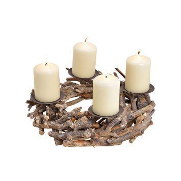 Kerzenhalter Adventsgesteck
